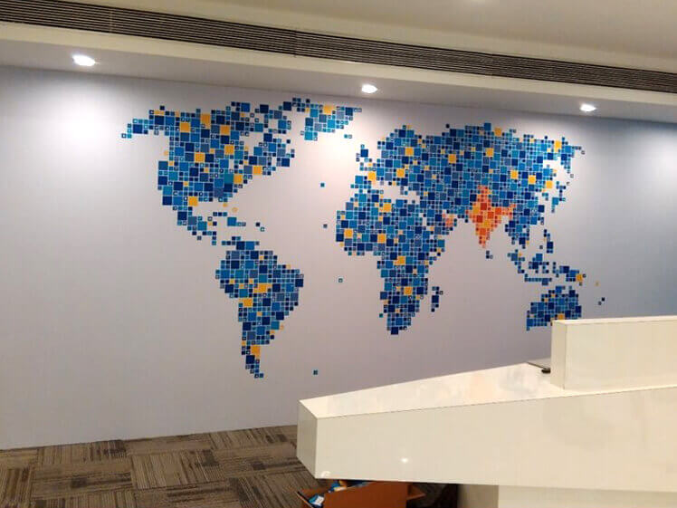 Environmental graphics for Cleartrip Office