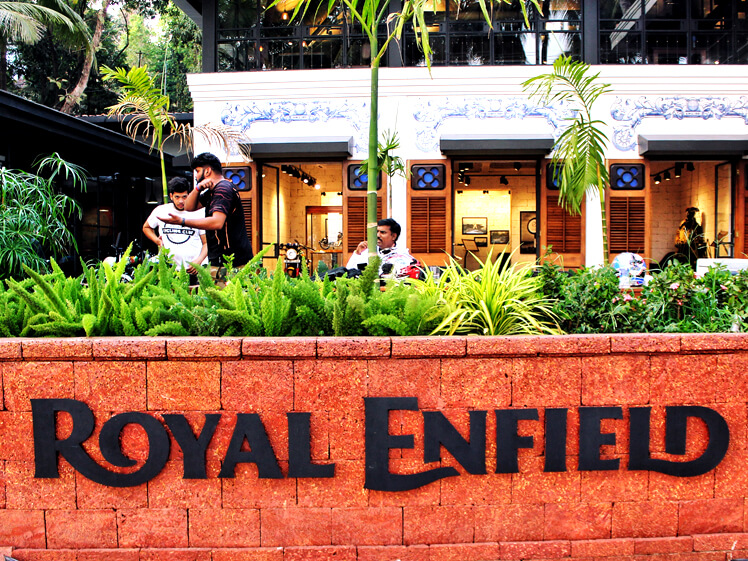 Royal Enfield Goa signage by Decotarium